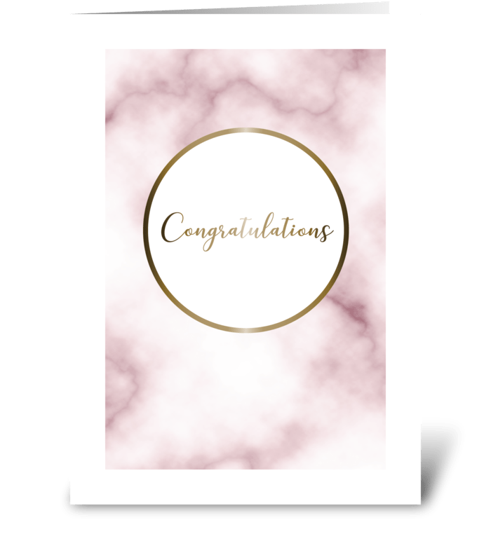Marble Congratulations greeting card