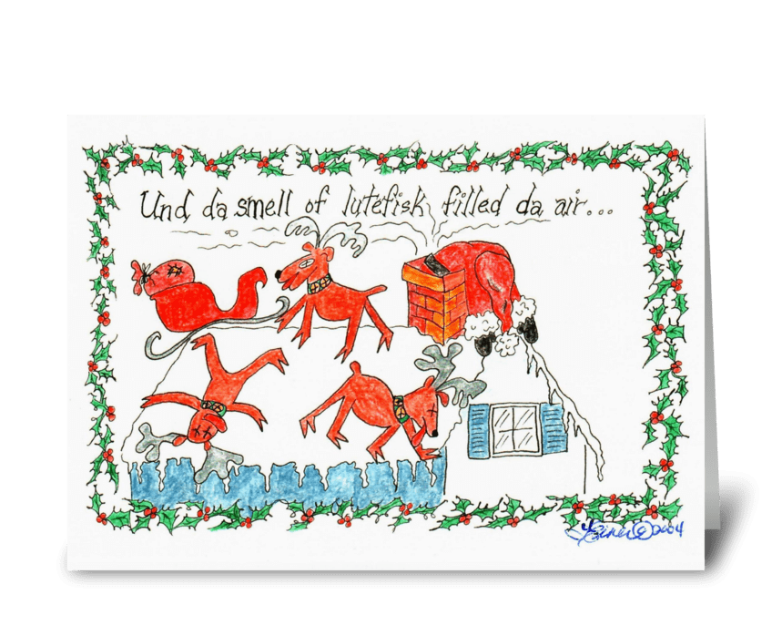 Norwegian Christmas greeting card