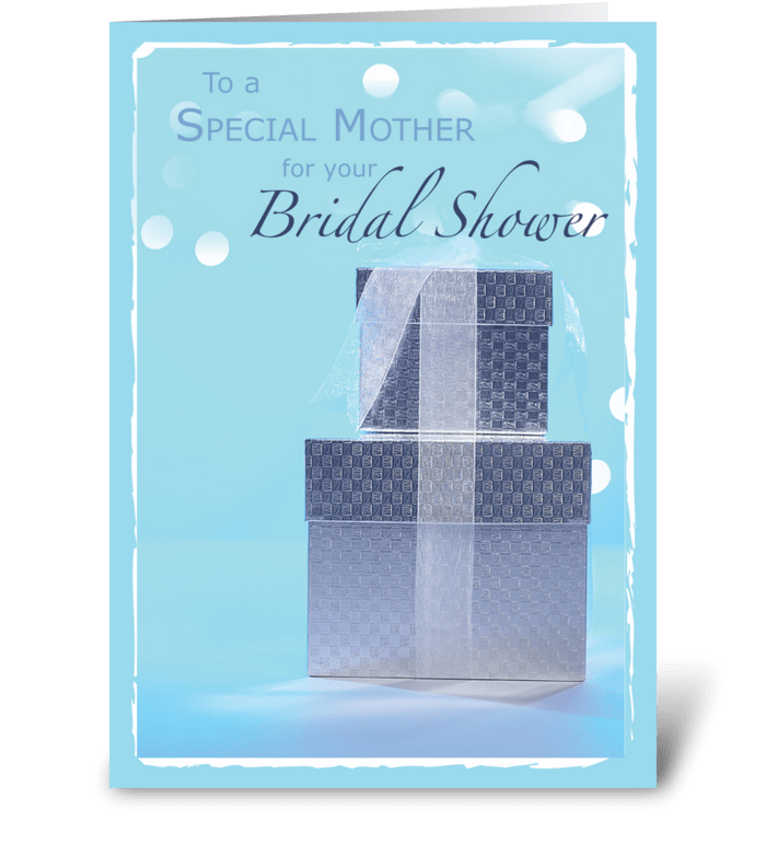 Mother, Bridal Shower Gifts, Light Blue  greeting card