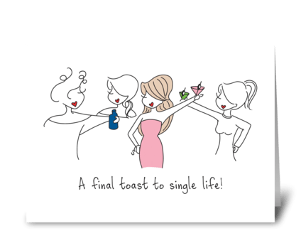 Final Toast greeting card