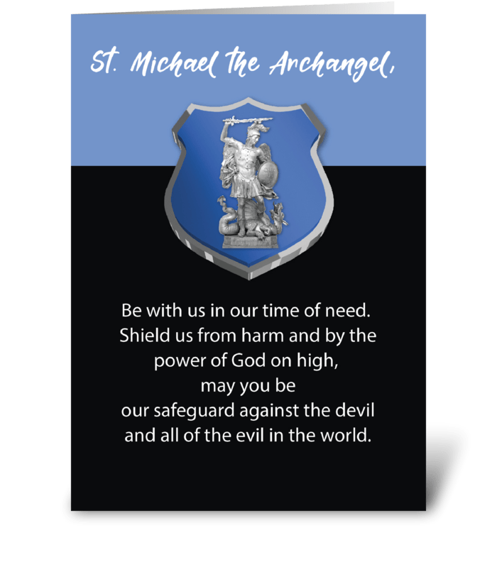 St. Michael Archangel Prayer Blessings  greeting card