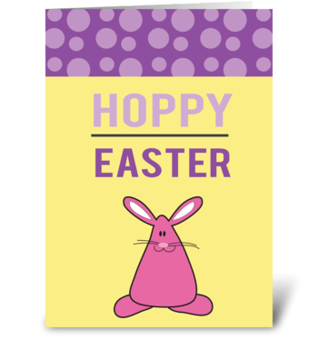 Hoppy Easter greeting card