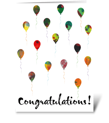 56 Congratulations Black greeting card