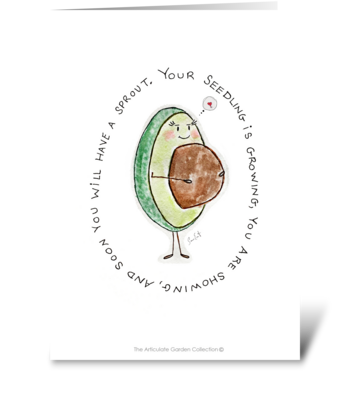 The Articulate Garden: Mother-To-Be greeting card