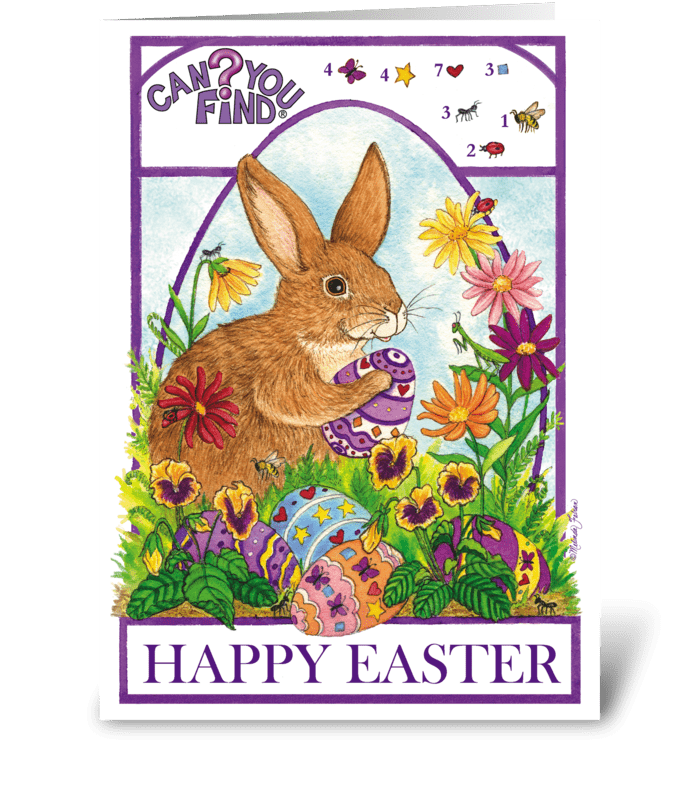 Easter Card Games greeting card