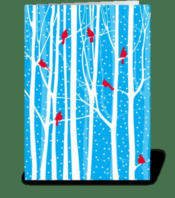 Holiday Cardinals greeting card