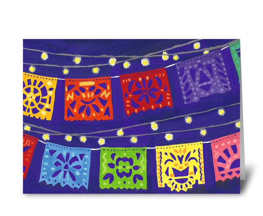 Fiesta Banners greeting card