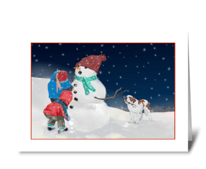 Christmastime Wishes greeting card