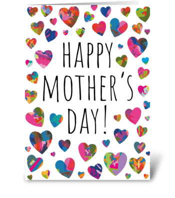 Colorful Mother's Day Card greeting card