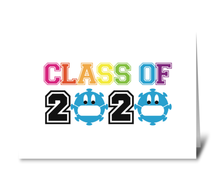 Class of 2020 Graduation School Letters greeting card