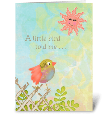 Feel Better Soon - A little bird told me greeting card