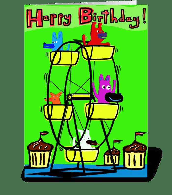 Ferris Wheel Birthday greeting card