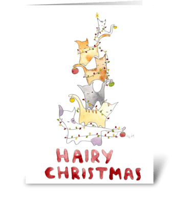 Hairy Christmas greeting card