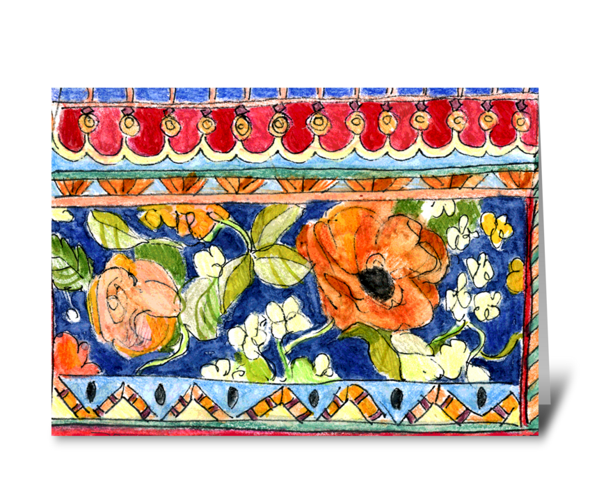 Ancient Poppies greeting card