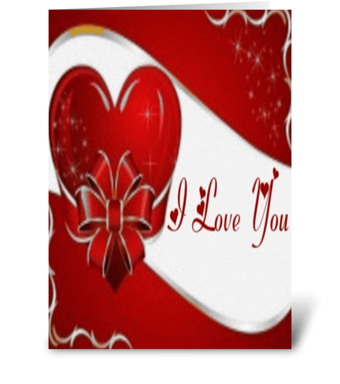 Greeting Card I Love You Fire Valentine All About Love