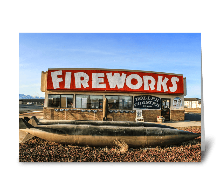Fireworks Store greeting card