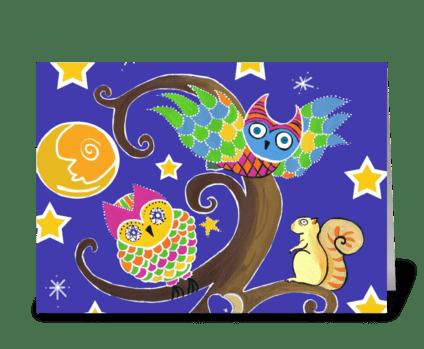 Moonlit Gathering greeting card