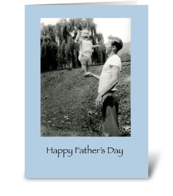 Father's Day Balancing Baby greeting card