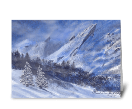 Flatirons Winter greeting card