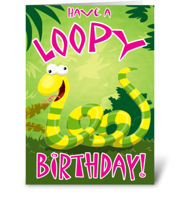Have a Loopy Birthday greeting card