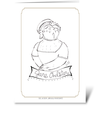 The Author Animalia Collection: Jane greeting card