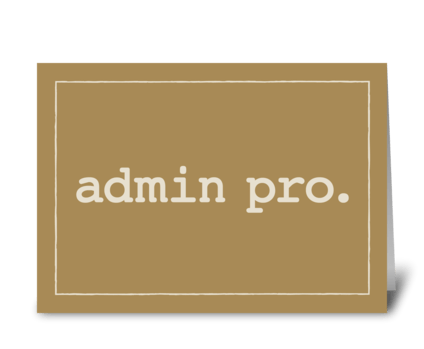 Admin Pro Definition on Admin Pro Day greeting card