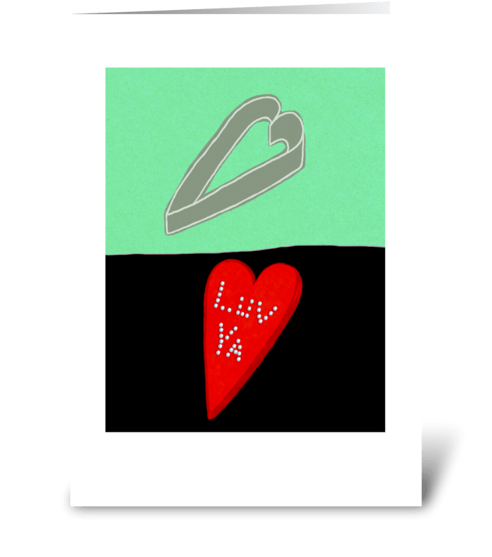 Cookie Cutter Heart greeting card