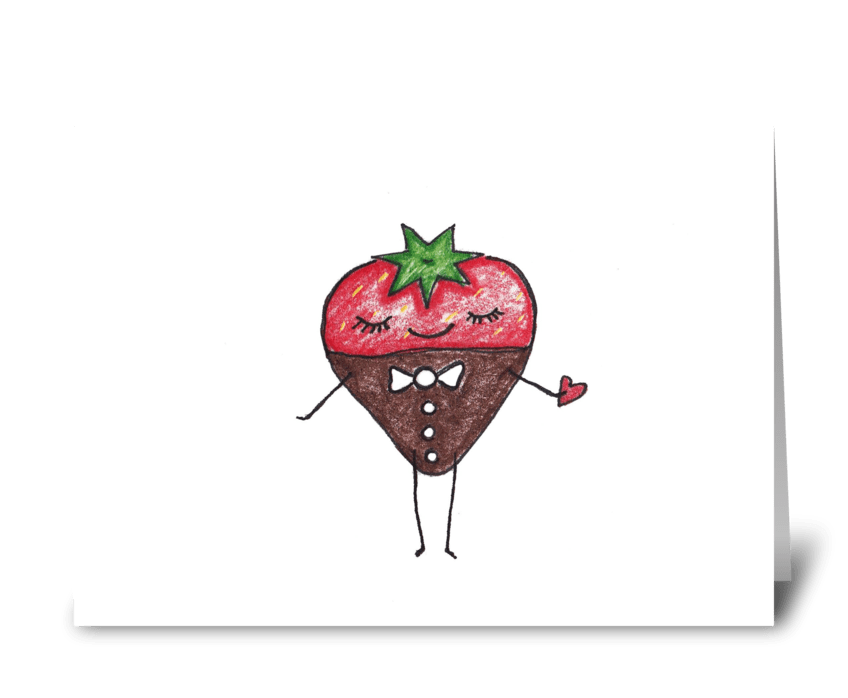 Chocolate Strawberry greeting card