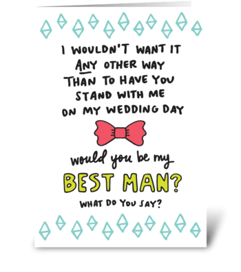 Best Man greeting card