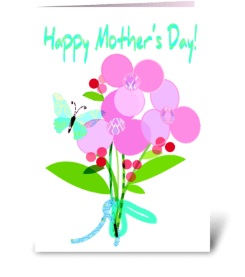 Mother's Day Bouquet greeting card