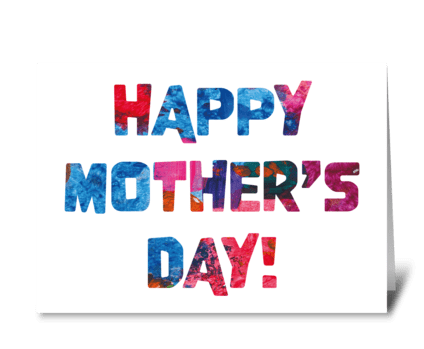120 Mother's Day Abstract greeting card
