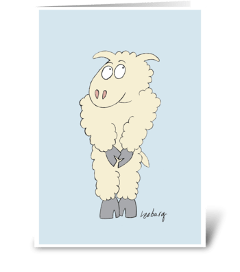 Sheepish Birthday greeting card