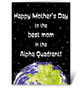 122 Star Trek Themed Mother's Day greeting card