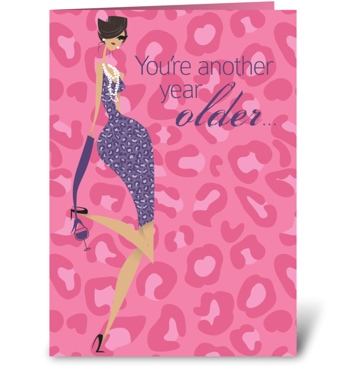 Wine About It Birthday greeting card