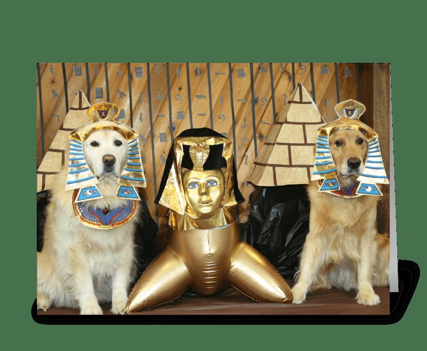 Golden Egyptian Birthday greeting card