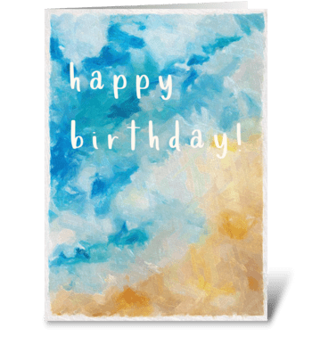 Swell Birthday greeting card