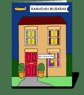 Covid 19 Ramadan Mubarak House greeting card