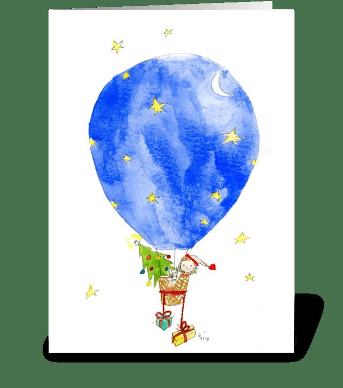 Christmas Balloon greeting card
