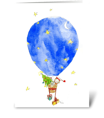 Christmas Balloon greeting card