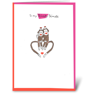 Love Monkey greeting card
