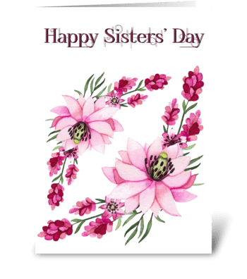 Sister Flowers greeting card