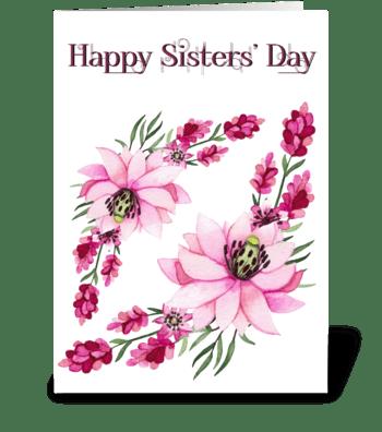 Sister Flowers greeting card