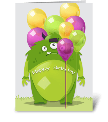 Happy Birthday - Alien greeting card