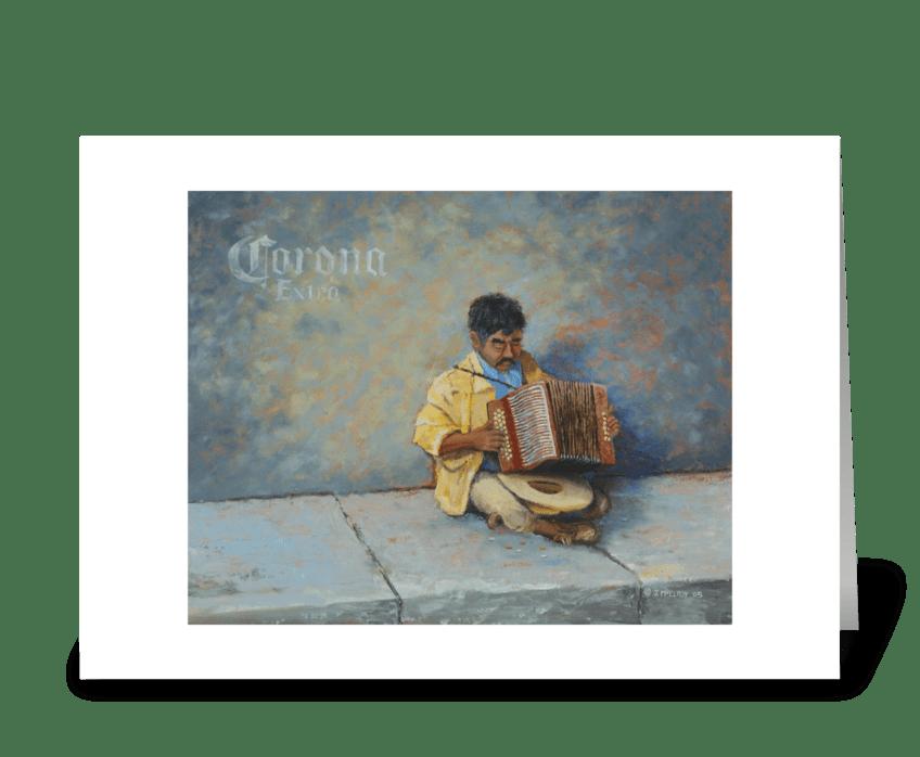 Carona Musician greeting card