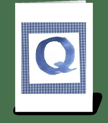 Q - Baby Boy greeting card