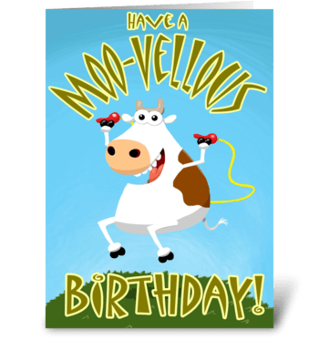 Have a Moo-vellous Birthday greeting card