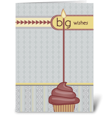 Big Wishes - Happy Birthday greeting card