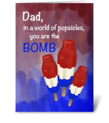 The Bomb Dad greeting card