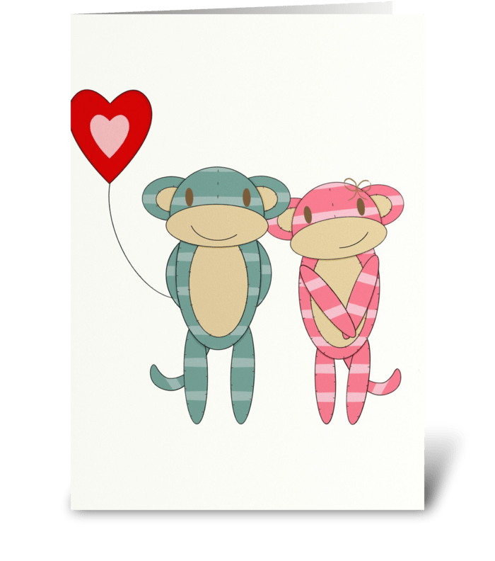 Love Monkeys greeting card