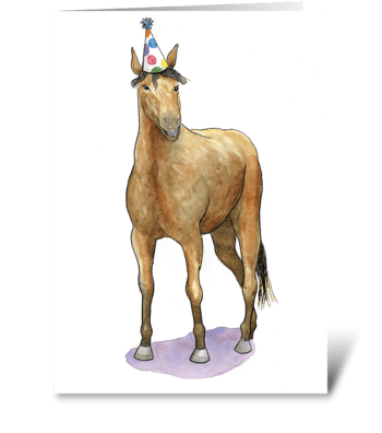 Horse Party Animal greeting card